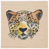 Cheetah's Face Rubber Stamp