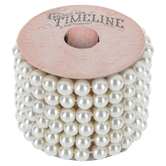 Ecru Glass Pearl Bracelet Spool