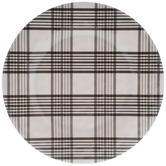 White & Black Plaid Plate