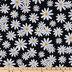 Black & White Daisies Apparel Fabric