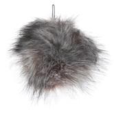 Gray Wolf Faux Fur Pom Pom