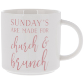 Sundays Are For Church & Brunch Mug