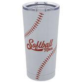 Softball Mom Metal Cup