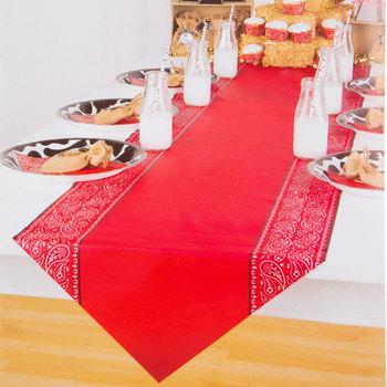 Red Bandana Table Runner