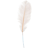 White Dyed Ostrich Feather Pick