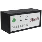 Days Until Wood Block Calendar