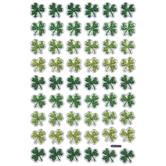 Metallic Green Shamrock Puffy Stickers