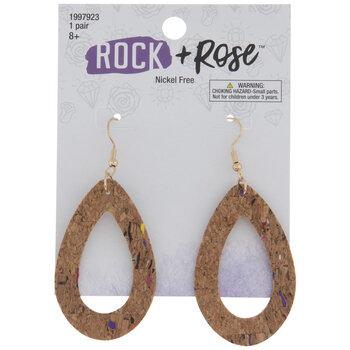 Cork Open Teardrop Earrings