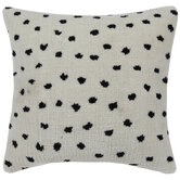 White & Black Spotted Pillow Cover