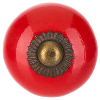 Red Round Knob