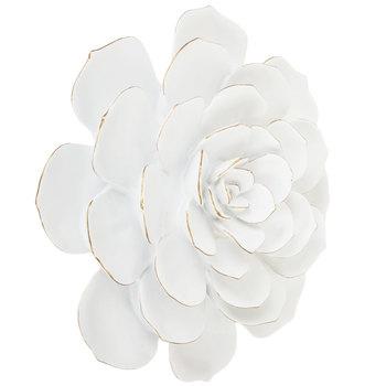 White Cactus Flower Wall Decor - Large