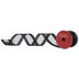 Black Glitter Wired Edge Sheer Ribbon - 2 1/2