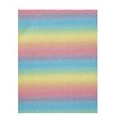 Pastel Rainbow Striped Felt Sheet