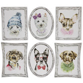 Framed Dogs Watercolor Cutouts