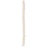 White Cultured Pearl Button Bead Strand