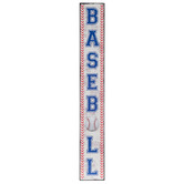 Baseball Vertical Wood Wall Decor