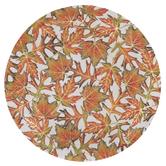 Orange & Green Leaves Paper Plates