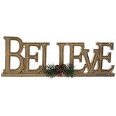 Gold Believe Decor