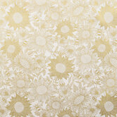 Gold Sunflowers & Bees Cotton Fabric