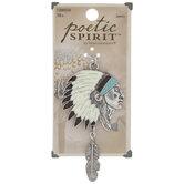 Headdress Pendant With Feather Dangle