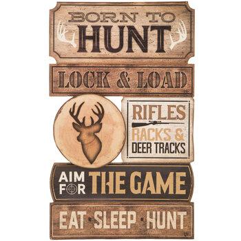 Born To Hunt Wood Wall Decor