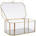 Gold Geometric Glass Jewelry Box - Large