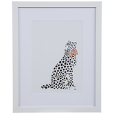 White Leopard Framed Wall Decor