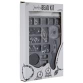 Gray & Black Metal Jewelry Bead Kit