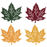 Double-Sided Maple Leaf Coasters