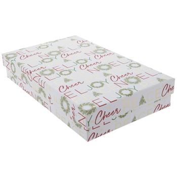 "Joy Wreath Gift Box - 7 3/8"" x 12"""