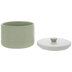 Green & White Textured Canister