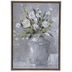 White Bouquet In Vase Canvas Wall Decor