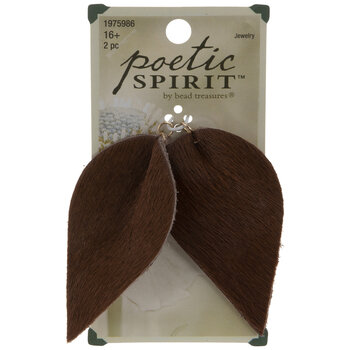 Brown Calf Hair Leather Drop Pendants