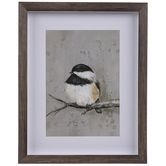 Bird On Branch Framed Wall Decor