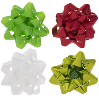 Lime, Red & White Gift Bows