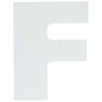 """White Wood Letters F - 2"""""""