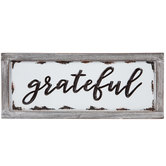 Grateful Enamel Wood Wall Decor