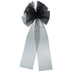 Black Organza Bow