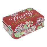 Merry Christmas Candy Swirl Tin