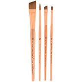 Synthetic Sable Paint Brushes - 4 Piece Set
