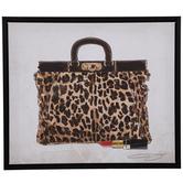 Leopard Print Purse Canvas Wall Decor