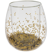 Star Glitter Stemless Glass