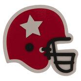 Football Helmet Painted Wood Shape