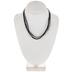 Black Organza & Waxed Cotton Necklace Cord - 17 1/2
