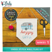 Happy Camper Flag Cross Stitch Kit