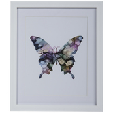 Watercolor Butterfly Framed Wall Decor