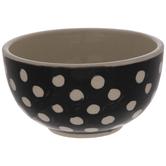 Black & Beige Polka Dot Mini Bowl