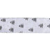Tree & Snowflake Single-Face Wired Edge Satin Ribbon - 2 1/2