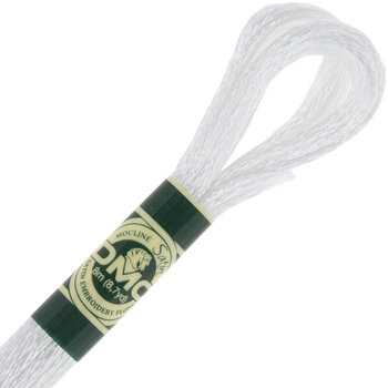 5200 Icy White DMC Satin Embroidery Floss