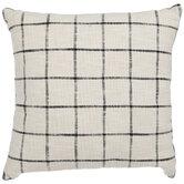 White & Black Graph Check Pillow